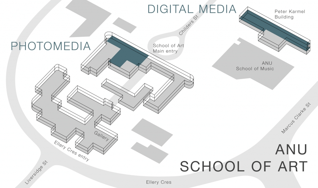 Photography and Media Arts map