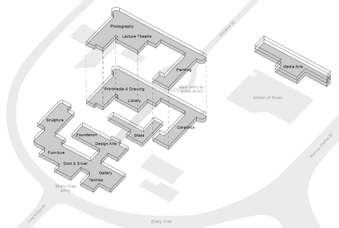 School of Art map