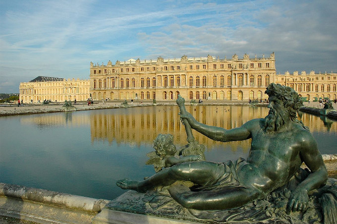 Palace of Versailles, garden side, c. 1680.