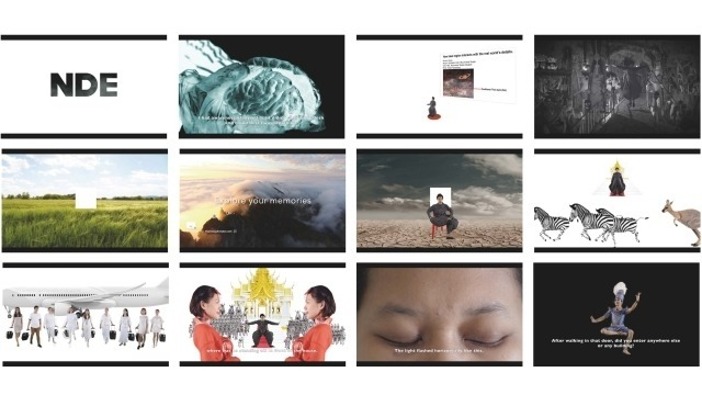 Compilation of twelve images of installation video.