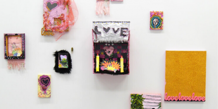 Emma Rani, 'I crouch on the ground cardboard heart in hand. Homesick. Still searching. I love you' (Installation view), 2019, mixed media, dimensions variable. Photographer: Lachlan Richardson.