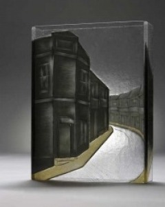 uffolk - sheet glass fused with glass powders, carved, cold assembled, 40 x 31 x 8cm